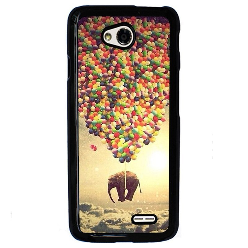Y&M Colorful Hot Air Balloons Lucky Elephant Phone Case for Lg L70 Multicolor