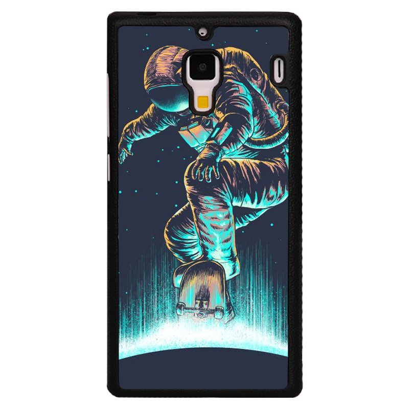 Y&M Cool Astronaut Pattern Phone Case for Red Mi 1S (Black)