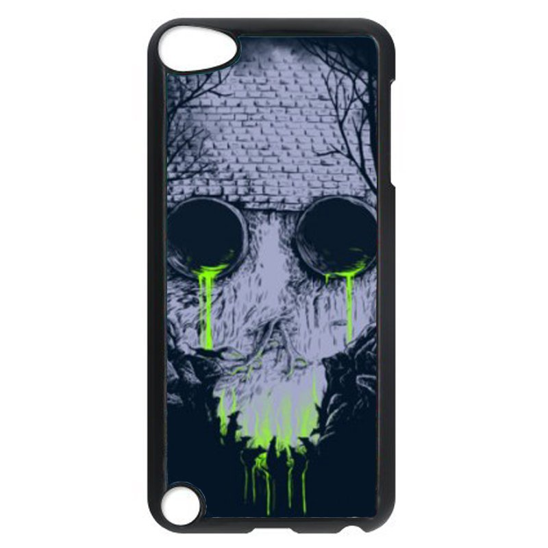 Y&M Cool Skeleton Head Phone Case for iPod Touch 5 (Black)