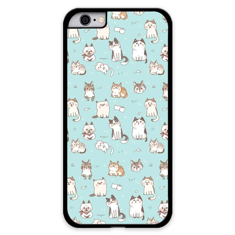 Y&M Cute Cats Animal Phone Cover for iPhone 6 Plus (Multicolor)