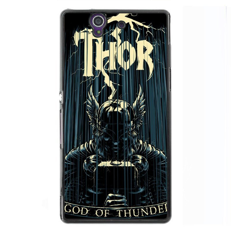 Y&M God Of Thunder Pattern Phone Case for Sony L36H Black