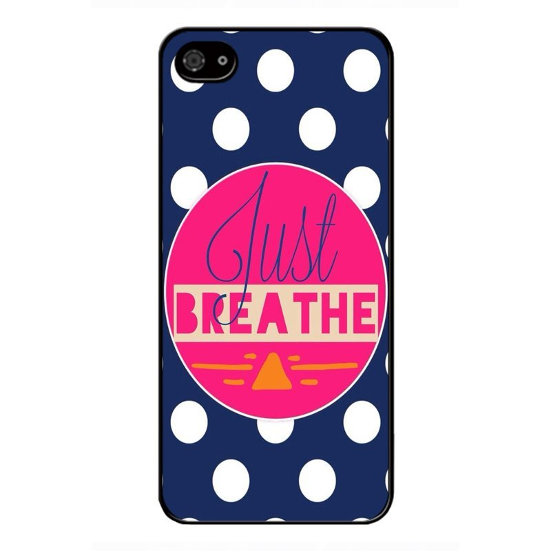 Y&M Just Breathe iPhone 4/4s Phone Cover (Multicolor)
