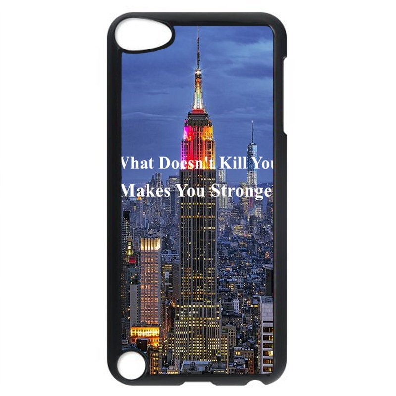 Y&M Make You Strong City View Phone Case for iPod touch 5 Black