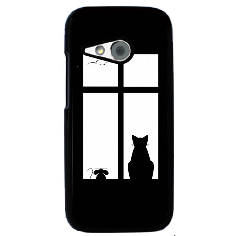 Y&M Mouse Cat In Window Phone Case for HTC One M8 Mini Multicolor