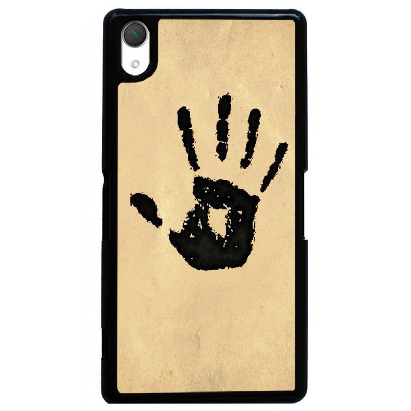 Y&M Palm Imprint Phone Case for SONY Xperia Z1 Black/Beige