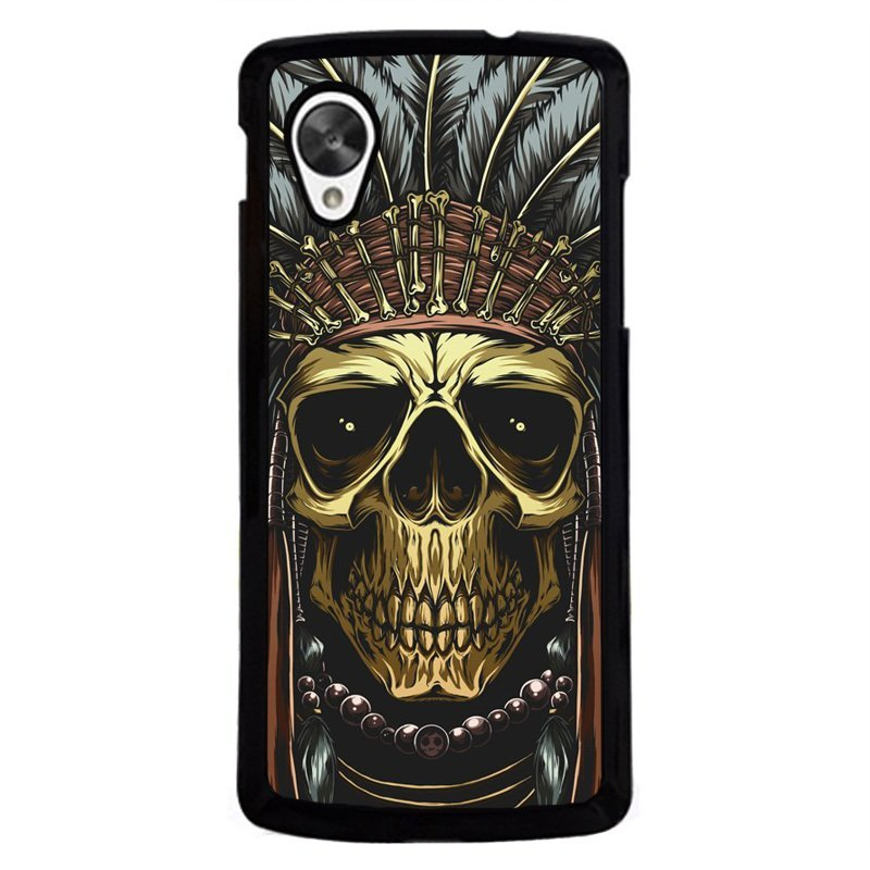 Y&M Personality Skull Head Leader Phone Case for LG Nexus 5 Black