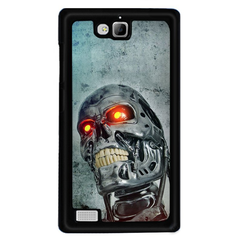 Y&M Phone Case For Huawei Honor 3c Cool Iron Skull Printed Cover (Multicolor)