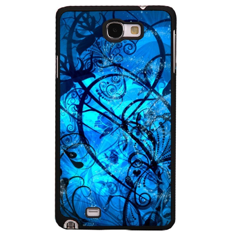Y&M Phone Case For Samsung Galaxy Note 3 Beautiful Blue Floral Pattern Cover (Multicolor)