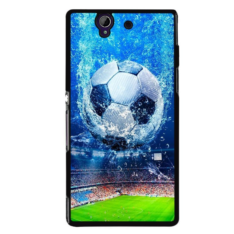 Y&M Popular Soccer Pattern Sony L36H Phone Cover (Multicolor)