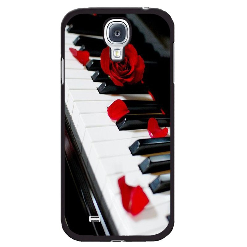 Y&M Red Rose On Piano Pattern Phone Case for Samsung Galaxy Mega 6.3 (Multicolor)