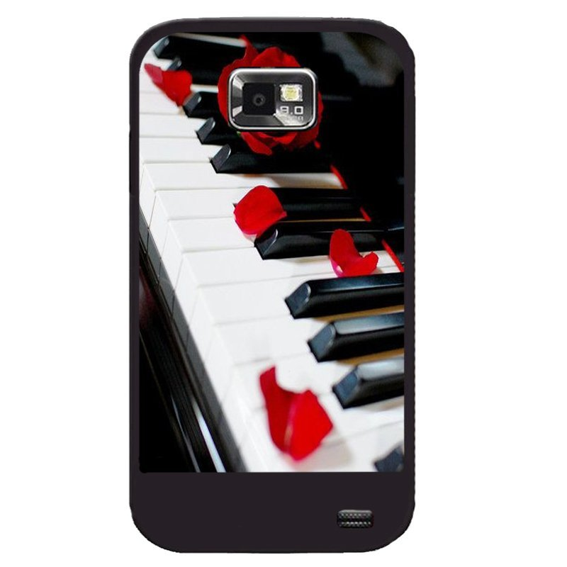 Y&M Red Rose On Piano Pattern Phone Case for Samsung Galaxy S2 (Multicolor)