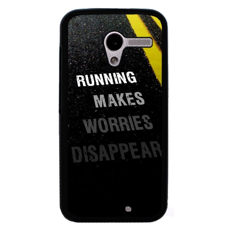 Y&M Running Makes Worries Disappear Phone Case for Motorola Moto X Black