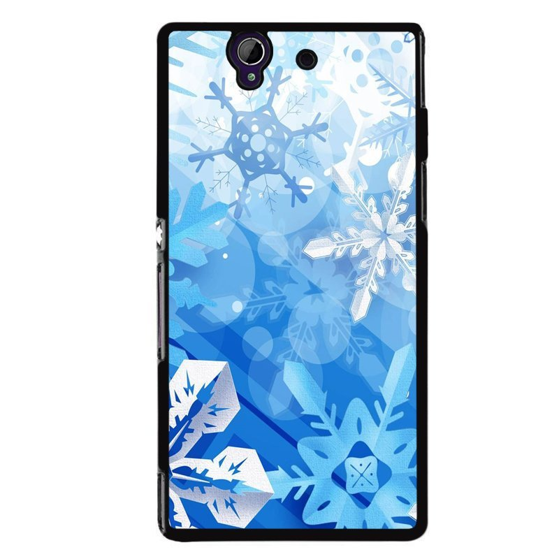 Y&M Sony L36H White Snow Flowers Phone Case (Multicolor)