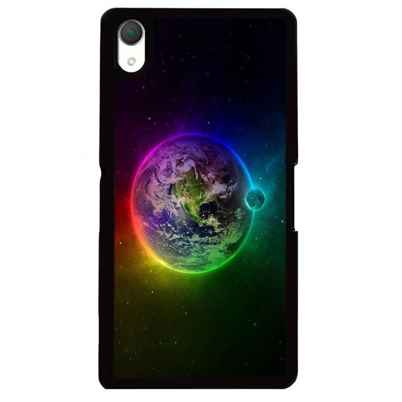 Y&M SONY Xperia Z3 Colorful Earth Plant Phone Case (Multicolor)