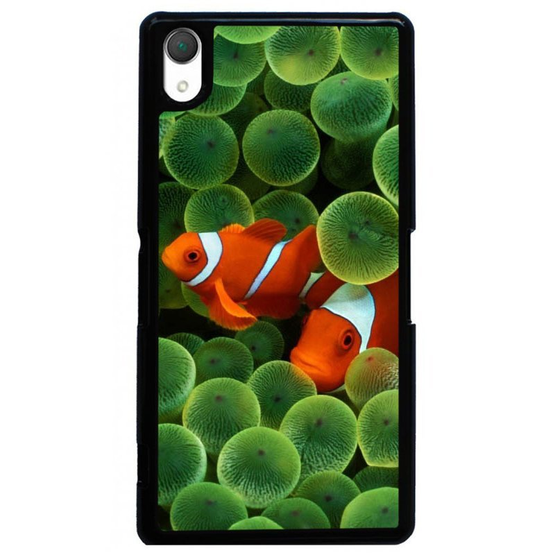 Y&M Swimming Orange Goldfish Phone Case for Sony L36H Multicolor