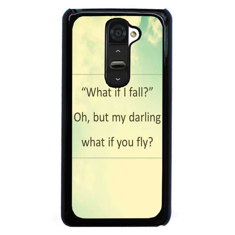 Y&M What If I Fall Fly My Darling Pattern Phone Case for Lg G2 Black