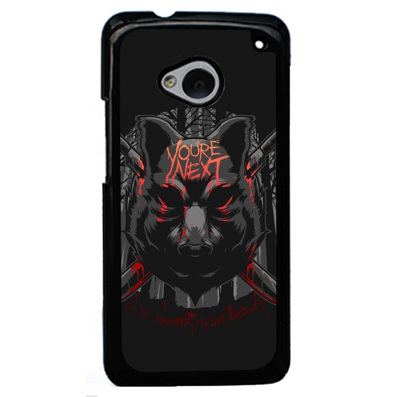 Y&M You're Next Wolf Phone Case for HTC M7 Black
