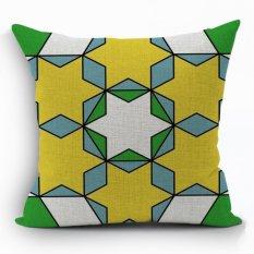 Yazilind New Fashion Style Geometry Pattern Decorative Muticolor Pillowcase Room Sofa Home 45*45CM / 17.55*17.55 Inch (Intl) (Intl)