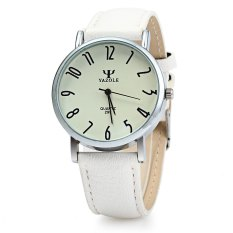 Yazole 299 Business Quartz Watch with Leather Band For Men (WHITE) (Intl)