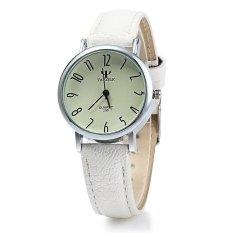 Yazole 299 Quartz Watch Women Business WHITE Leather BandWHITE (Intl)