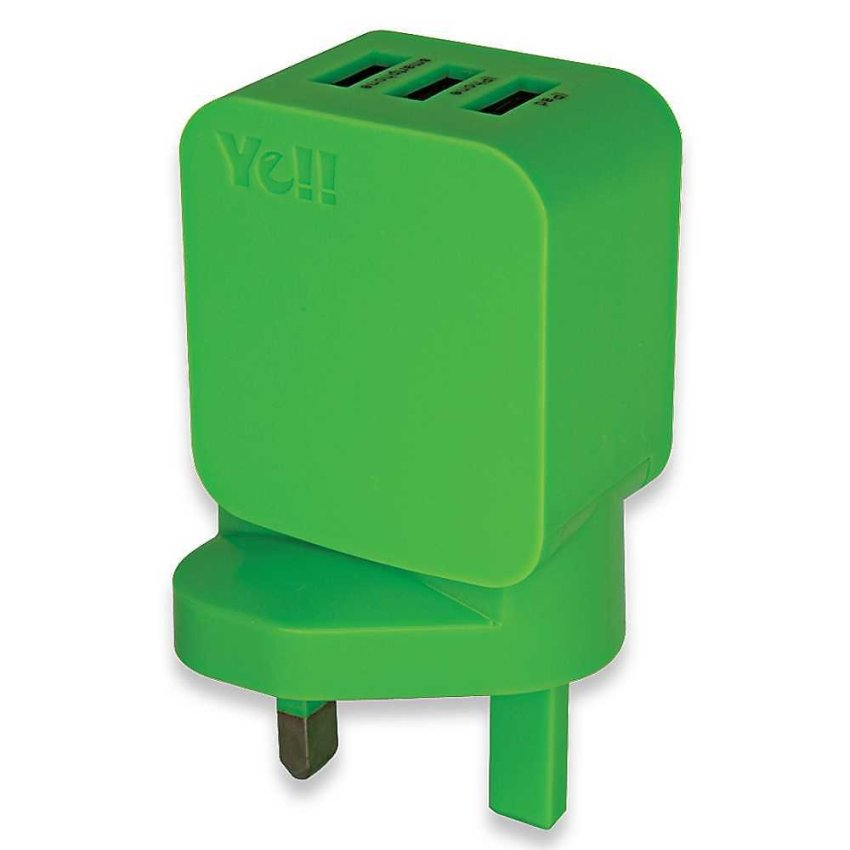 Ye!! 3Ports USB Adapter- Green