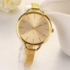 Yidabo Fashion Luxury Gold / Silver Quartz Lady Women Wrist Watch (Gold) - Intl