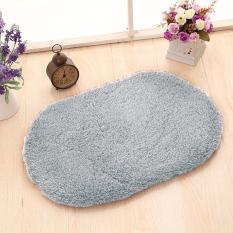 Yika 40*60cm Soft Kitchen Bathroom Door Floor Non-Slip Mat Carpet Rug (Silver)