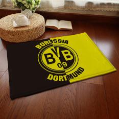 Yika Absorbent Soft Coral Velvet Non-Slip Bathroom Floor Mat Rug Football Team Borussia Dortmund (Multicolor)