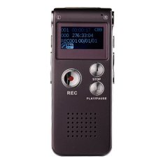 Yika Digital Dictaphone MP3 Player 8GB Steel Rechargeable Voice Recorder (Black)