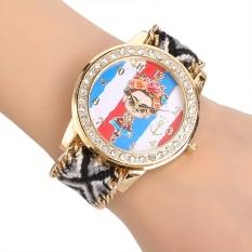 Yika Women's Braided Handmade Friendship Bracelet Quartz Wrist Watch