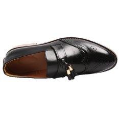 YINGLUNQISHI Men's Bullock Wingtip Leather Dress Shoes (Black) JC-005 - Intl