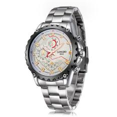 Yiokmty LONGBO Domineering Scale New Sports Watch Waterproof Watch Fake Three Luminous Men's Watch