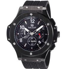 Yooyvso MEGIR Mountaineering Outdoor Sports Watches Authentic Fashion Waterproof Quartz Watch Men And Women Couple Models 3002G (Black)