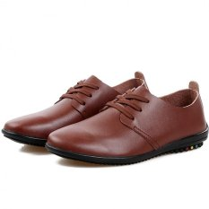 "Young British Men""s Business Casual Shoes Breathable Lace Shoes Influx Of Men (Brown) ' - Intl"
