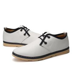 Young Fashion Wear Casual Shoes Breathable (White) - Intl