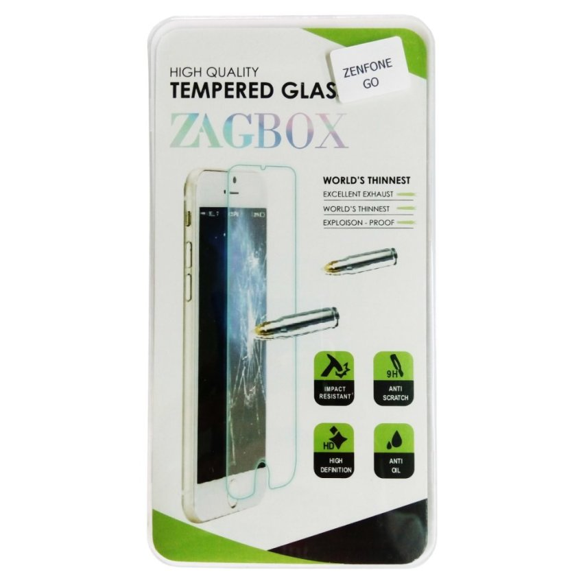 Zagbox Tempered Glass Untuk Xiaomi Redmi Note 2 - Clear
