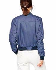 ZANZEA Thin Zip Padded Coat Outerwear Short Bomber Jacket Casual Boyfriend Women Trendy (Intl)
