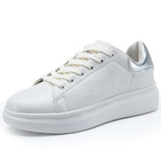 ZHAIZUBULUO Casual Sports Leather Sneaker TML-1577 White/Silver (Intl)