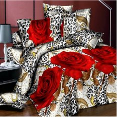 ZHENGQI 4 Pcs Sueding 3D Quilt Cover Pillowcases And Bed Linen Set (001) (Intl)
