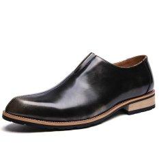 ZNPNXN Suede Men's Formal Shoes Low Cut (Yellow) - Intl