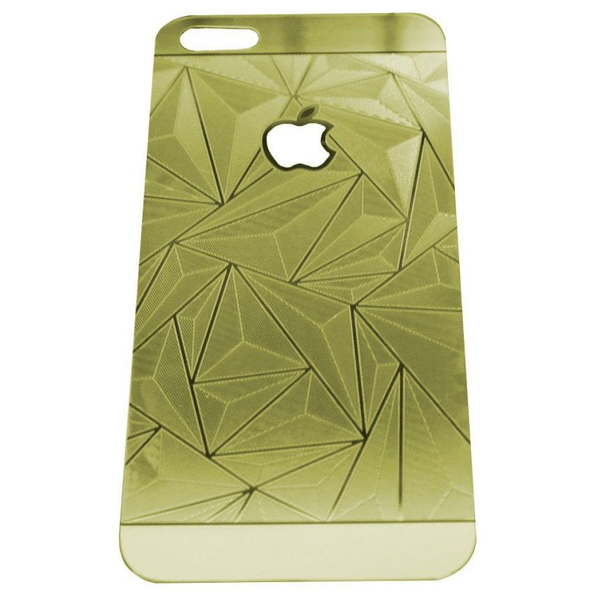 Zona Tempered Glass 3D Diamond Untuk iPhone SE / 5S / 5 - Gold