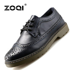 ZOQI Summer Man's Formal Low Cut Shoes Fashion Casual Comfortable Shoes-Blue