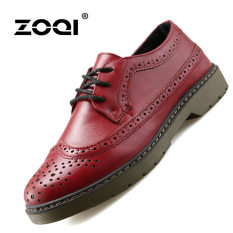 ZOQI Summer Man's Formal Low Cut Shoes Fashion Casual Comfortable Shoes-Red