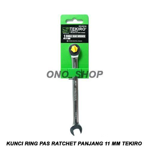 Kunci Ring Pas Ratchet Panjang 11 mm Tekiro