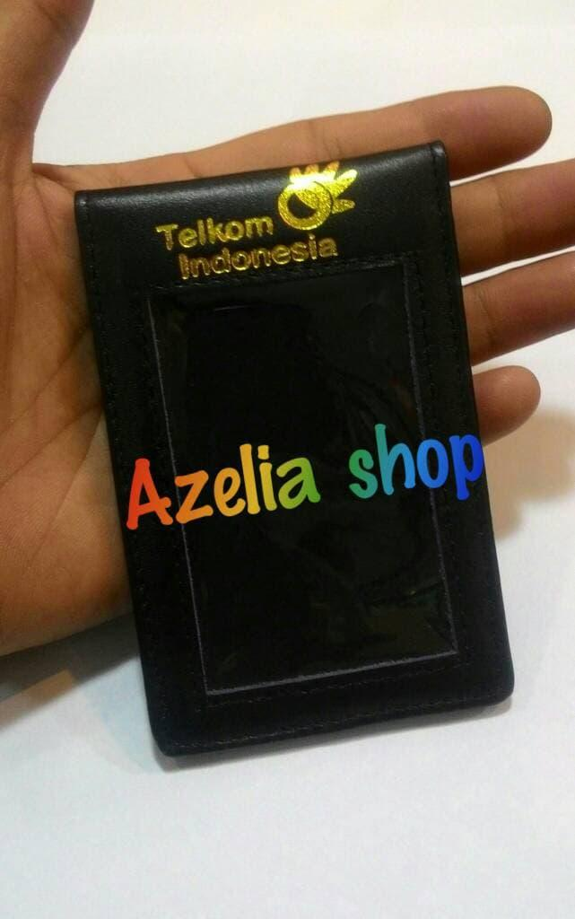 SALE -  ID CARD HOLDER/NAME TAG/TEMPAT ID CARD KULIT LOGO TELKOM