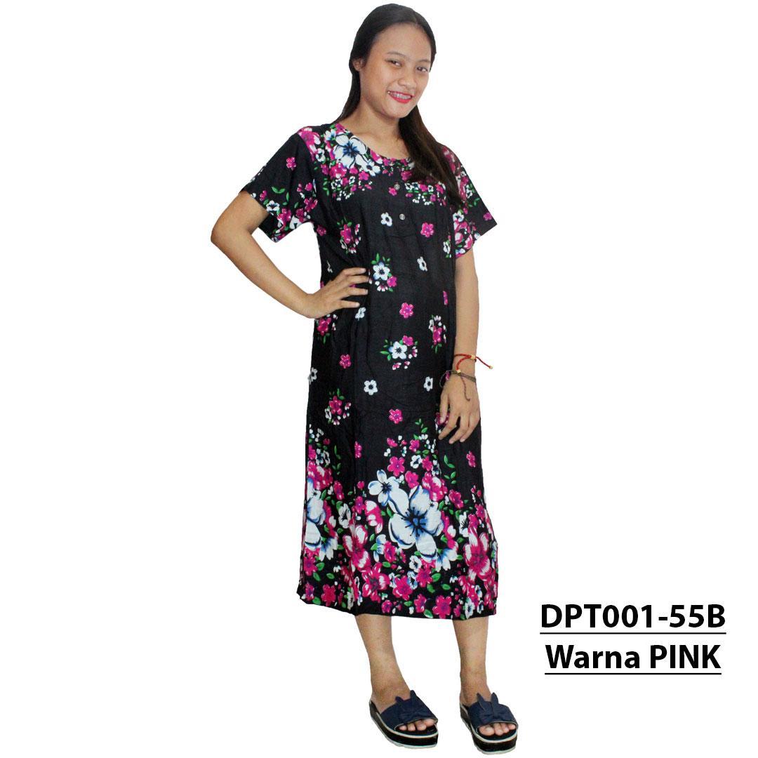 Daster Batik, Daster Lengan Pendek, Baju Tidur, Piyama, Leher Kerut (DPT001-55) Batikalhadi Online
