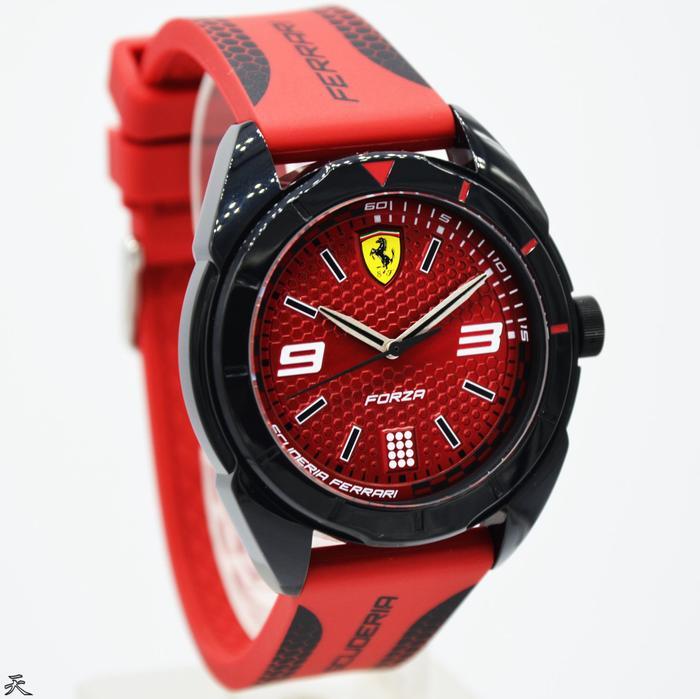 Jam Tangan Pria Original Ferrari 0830517 Garansi Resmi