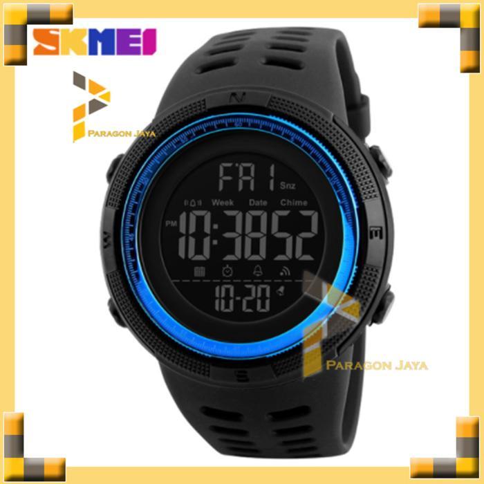 HARGA SPESIAL!!! Jam Tangan Pria Sport Skmei 1251 Blue Original Anti Air Suunto Eiger - Merah