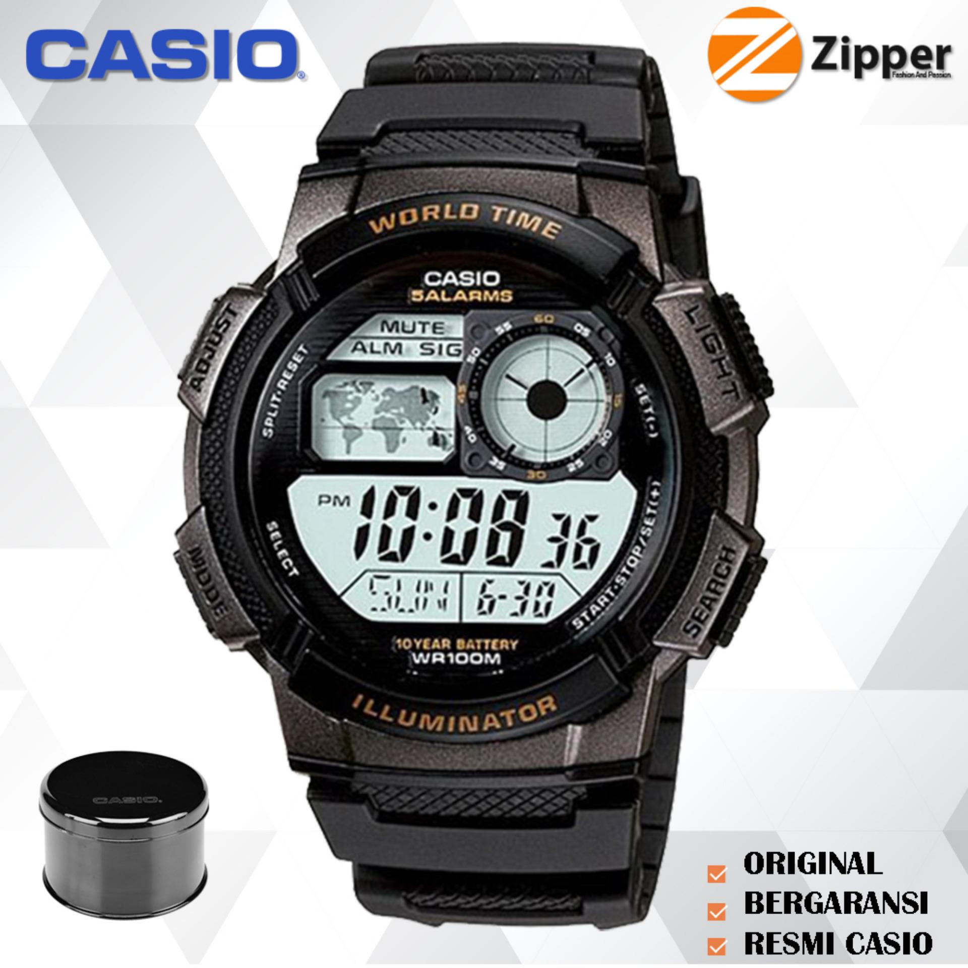 Casio Jam Tangan Digital Men and Women Spesial AE-1000W Youth Series - Tali Karet PROMO