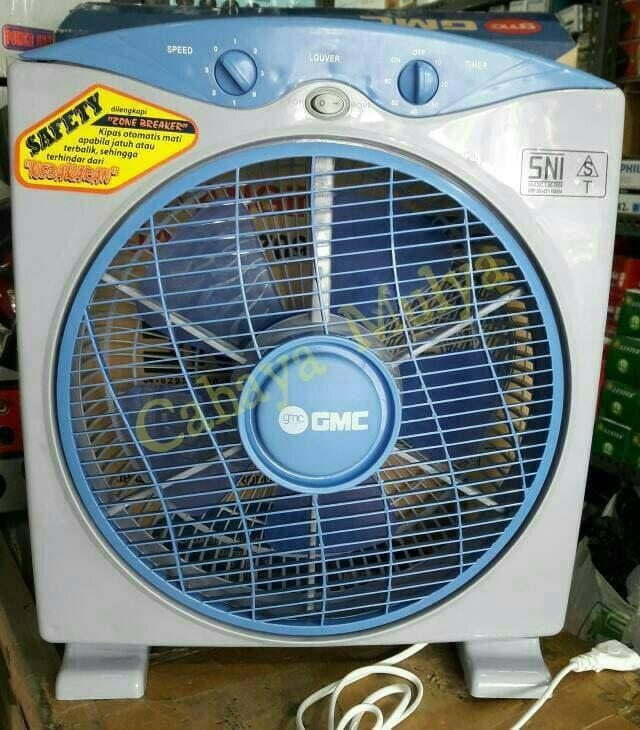 Kipas Angin Meja/Kotak (Desk/Box Fan) GMC BM-709 Ukuran